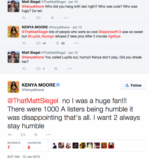 'Humble' Kenya Moore Enraged That Lupita Wouldn't Take a Pic With Her