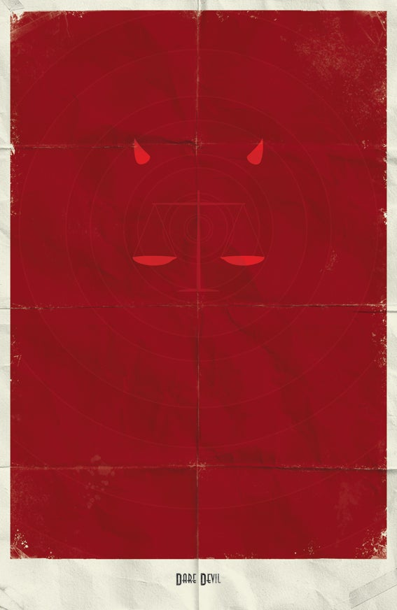 Minimalist posters from the Marvel Universe