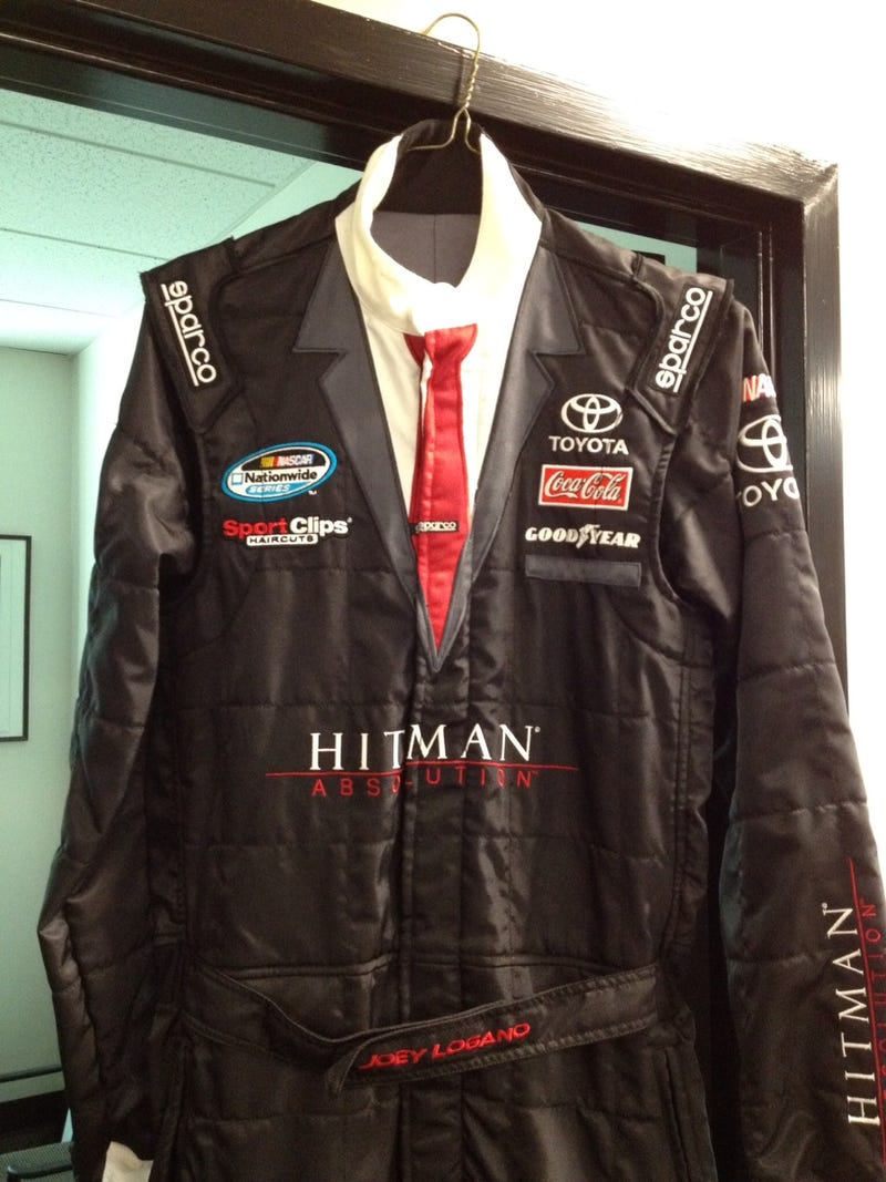 This Hitman Racing Suit is Either the Most Ridiculous or the Most Brilliant Thing I've Seen
