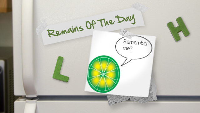 "Remains of the Day: LimeWire's $72 Trillion ""Fine"""