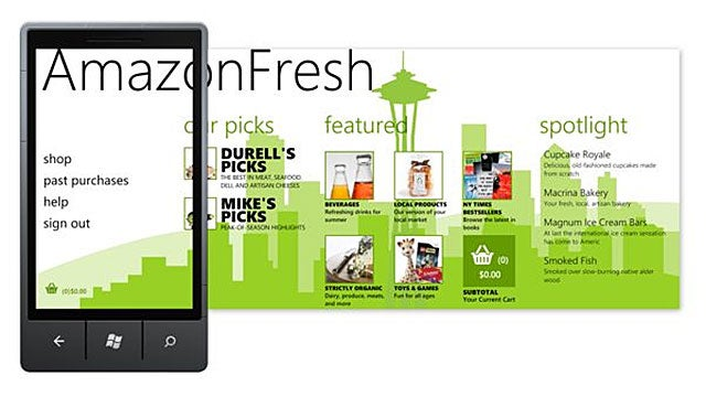 AmazonFresh Lets You Order Groceries From Your Windows Phone