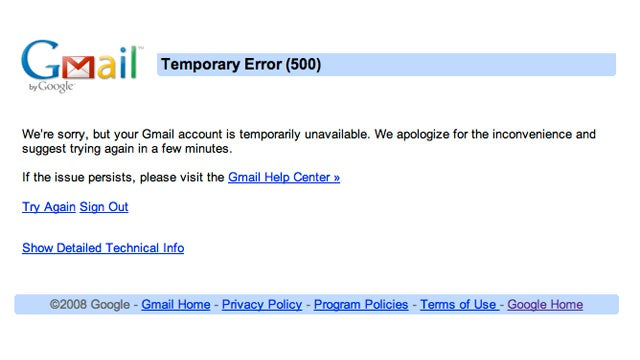 Gmail Is Down: Everyone Go Home
