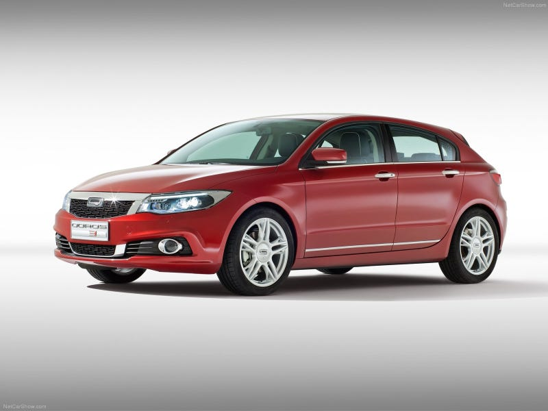 The last Chinese car to be imported in Europe: the Qoros 3 hatchback.