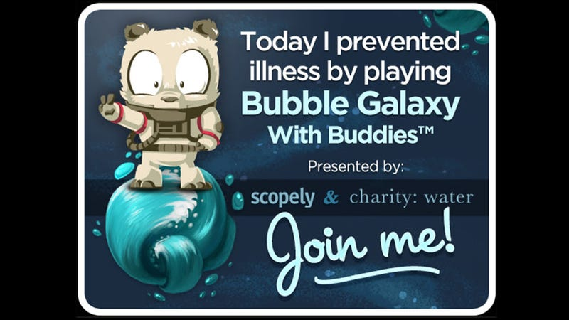 Every Friend Recruited for Bubble Galaxy with Buddies is Clean Drinking Water for Burkina Faso
