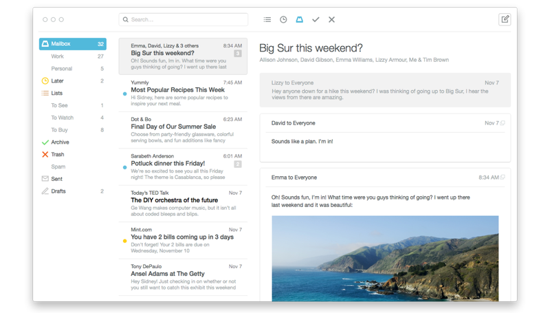Mailbox for Mac Arrives In Beta Today To Redeem Your Email