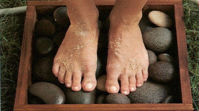 DIY Stone Footbath