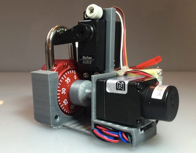 Crack a Combination Lock In 30 Seconds With This 3D-Printed Contraption