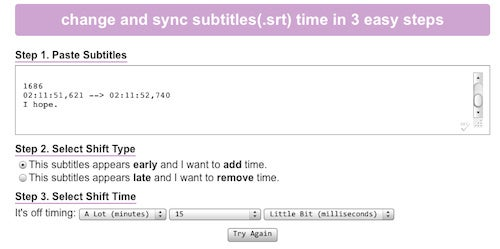 EndlessSubtitles Shifts Subtitle Files to Stay In Sync With Your Movie