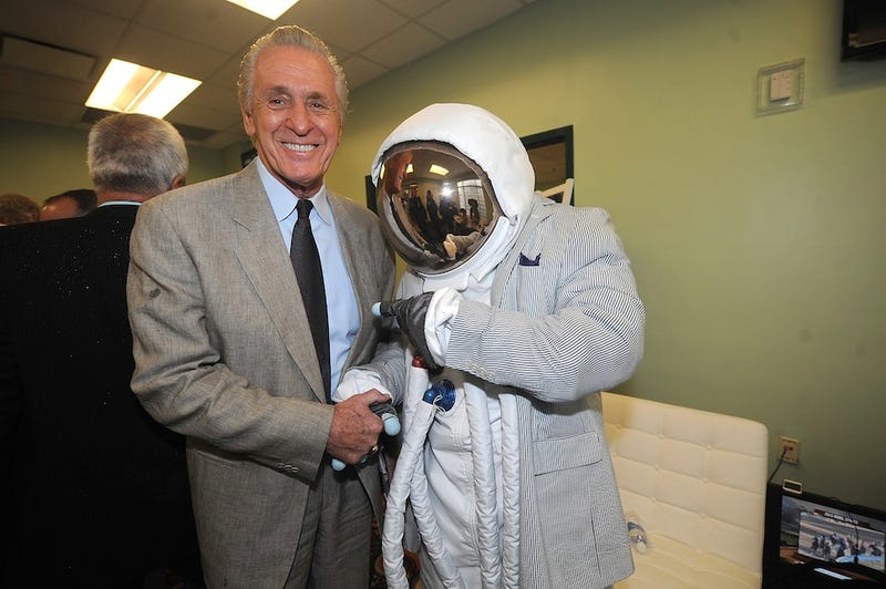 Pat Riley And An Astronaut in A Seersucker Suit