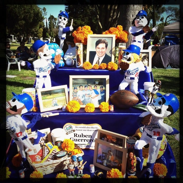 This Dodgers-Themed Dia De Los Muertos Altar Is Awesome