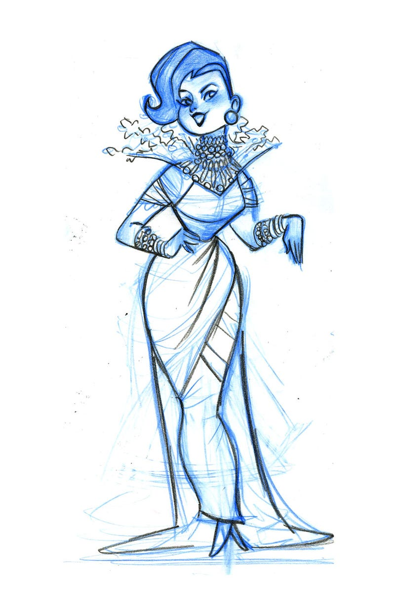 Stunning Frozen Concept Art Reveals The Snow Queen You ...