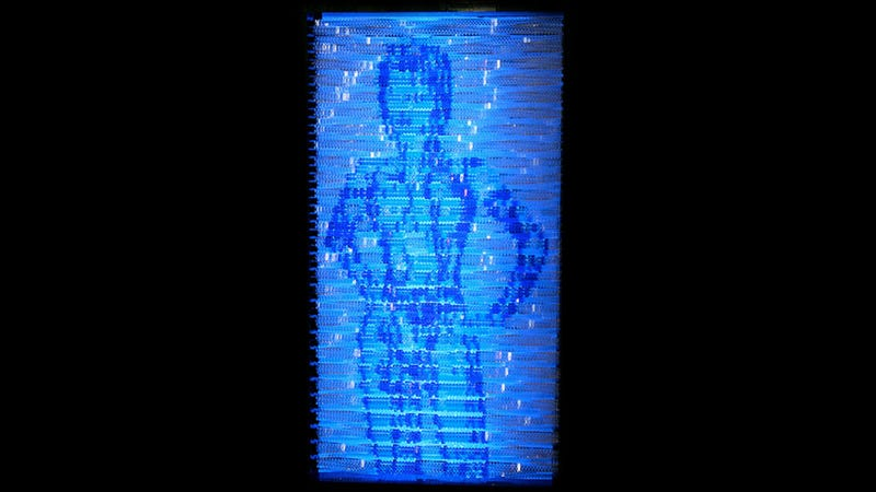 A LEGO Cortana That Actually Shimmers Like A Hologram