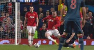 Wayne Rooney Dives, Draws A Red, Smirks