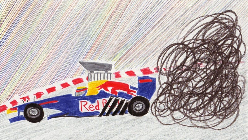 The 2011 Chinese Grand Prix in Crayola