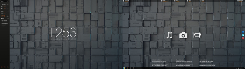 Functional Dual Monitor Desktop
