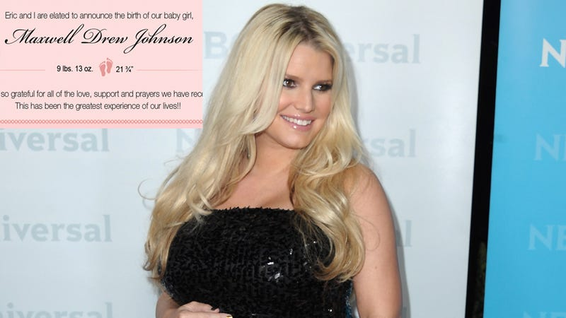 At Long Last, Jessica Simpson Gives Birth
