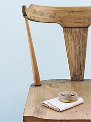 Shine Wooden Furniture with Shoe Polish