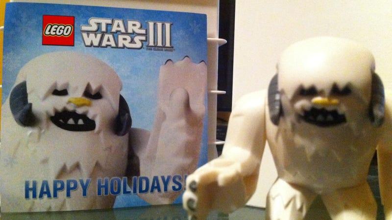 Happy Holidays From a LEGO Wampa