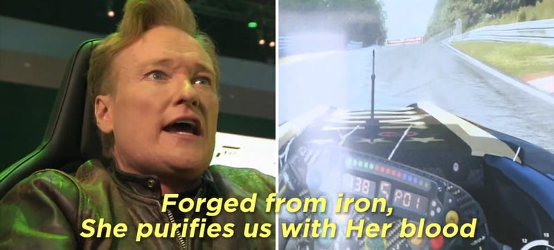 Here's Conan Playing Forza And Screaming Fake German