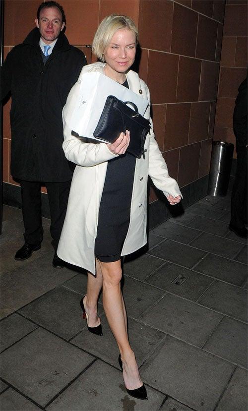 Renee Zellweger Steps Lightly In Loutboutins