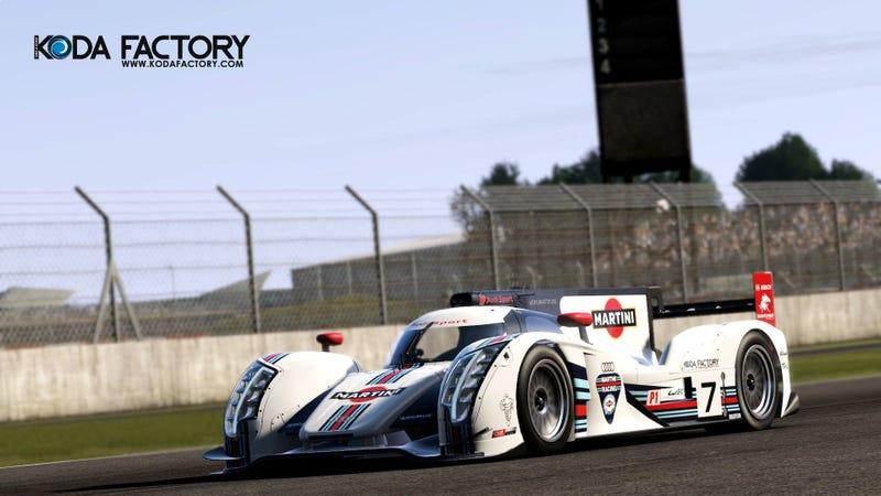 Artwork: Audi R18 Martini Racing