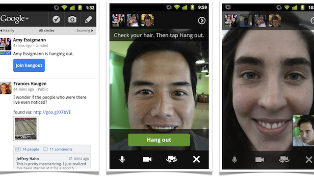 Google+ Adds Hangouts to the Android App