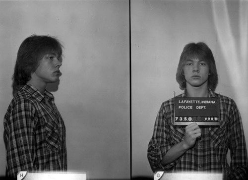 Teenage Axl Rose Has A Mug Shot That, It Seems To Me, Reminds Me Of Childhood Memories