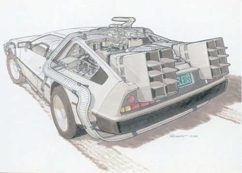Go Back To The Future With Original Hoverboard And Delorean Concept Art