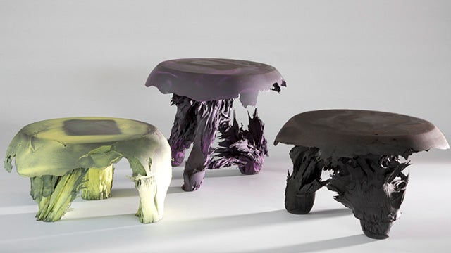 Ugly Gravity Stools Created With a Giant Magnet