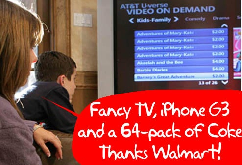 Walmart: Would You Like a Side of AT&T U-Verse With That Vizio TV?
