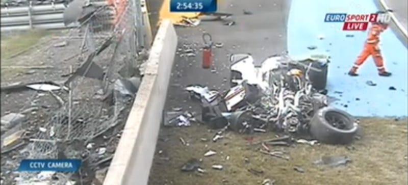 Audi R18 Destroyed In Huge Le Mans Crash