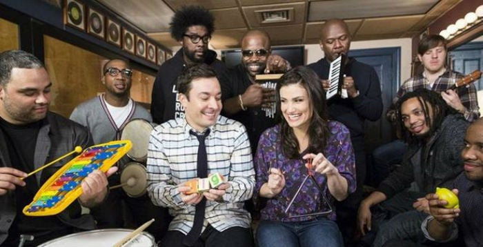 Idina Menzel Does Frozen's 'Let It Go' with Jimmy Fallon and The Roots