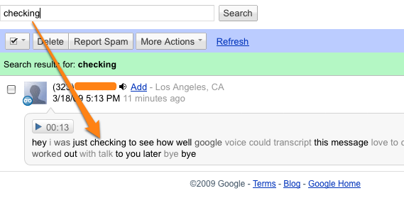 A First Look at Google Voice