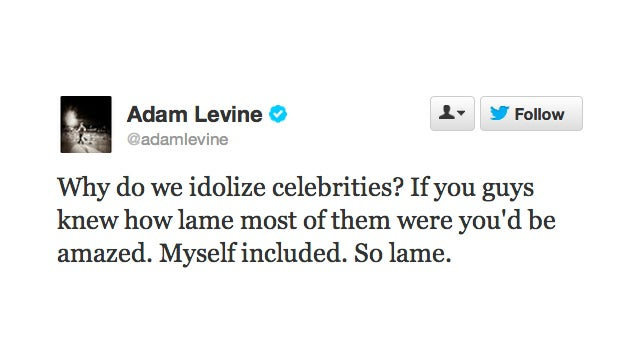 Adam Levine Wants Us to Stop Idolizing Him; Public Responds with 'Yeah, No Problem'