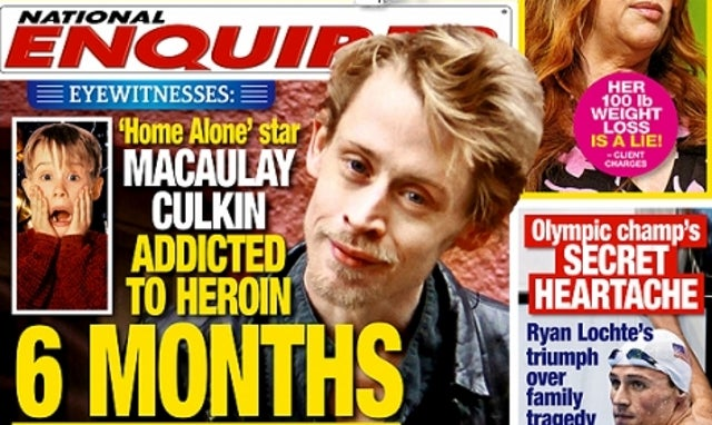 The National Enquirer Fires Back: Macaulay Culkin Is Addicted to Heroin and Needs to Seek 'Professional Help'