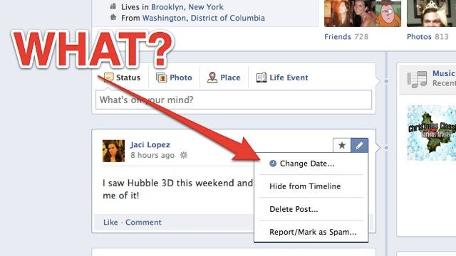 You Can Now Send Facebook Wall Posts Back in Time