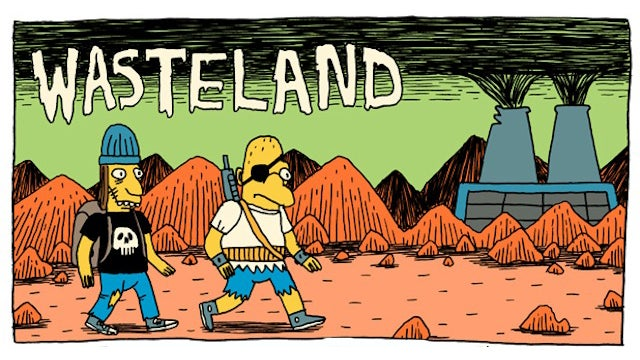 A short and stylish Simpsons webcomic set in a post-apocalyptic Springfield