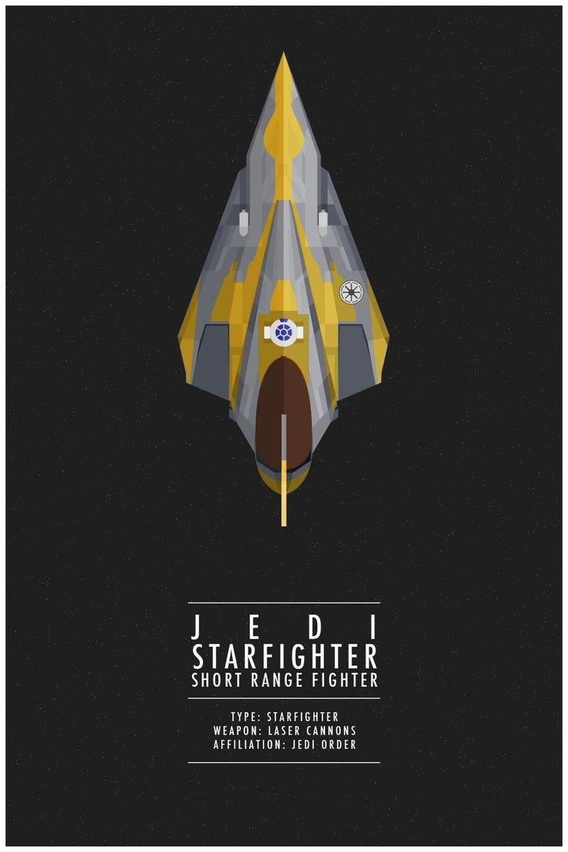 Recuerda todos los cazas de Star Wars con estos geniales pósters