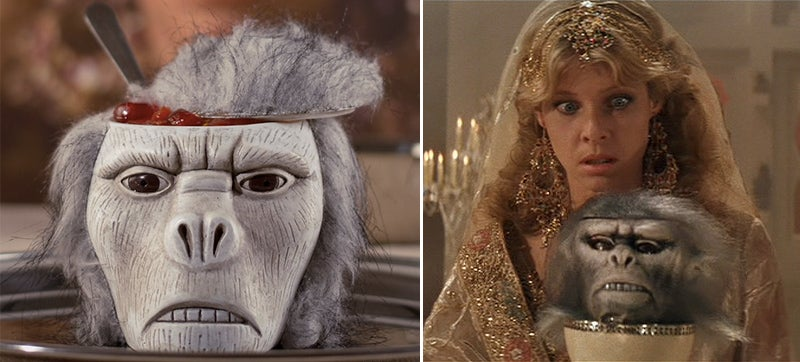 Decorate Your Temple of Doom With a Monkey Head Bowl Full of Fake Brains