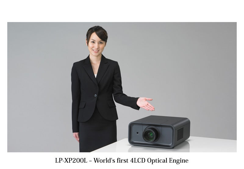 LP-XP200L from Sanyo is World's First Four-LCD Optical Engine Projector