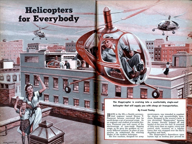 1951 Article Promises 'Helicopters for Everybody' (So Long As You're Male)