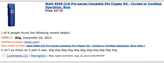 What's the Best Worst Amazon Review You've Ever Seen?