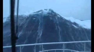 Listen To A Man Laugh As A Monster Wave Bears Down On His Puny Life