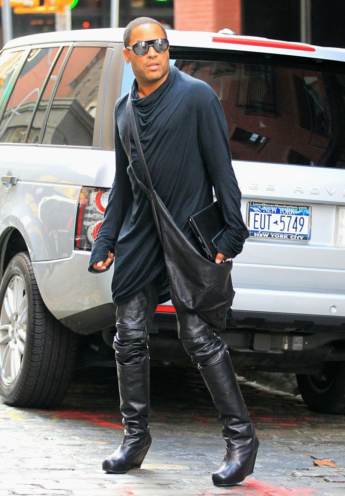 Lenny Kravitz's High Heels: One Wobbly Step for a Man, One Giant Leap for Men's Fashion