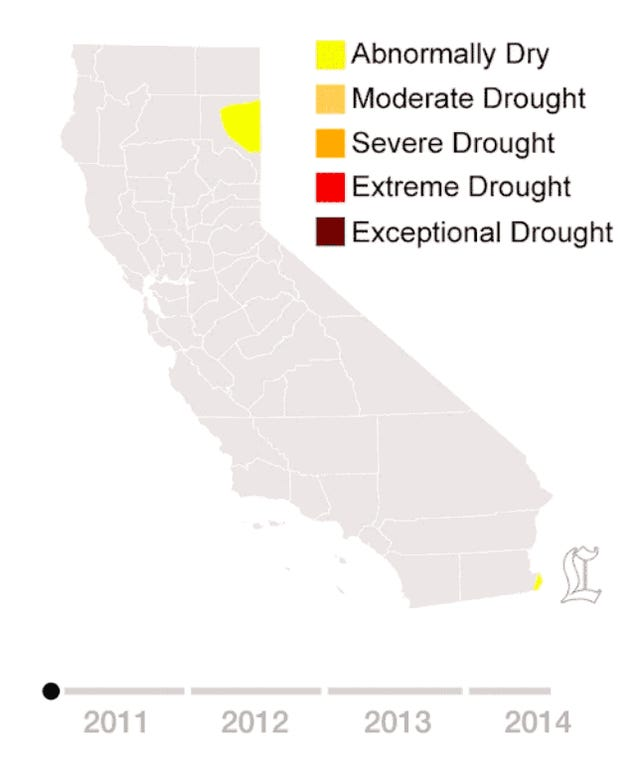 Just How Bad Is California's Drought? Here's A Scary, 10-Second Answer.
