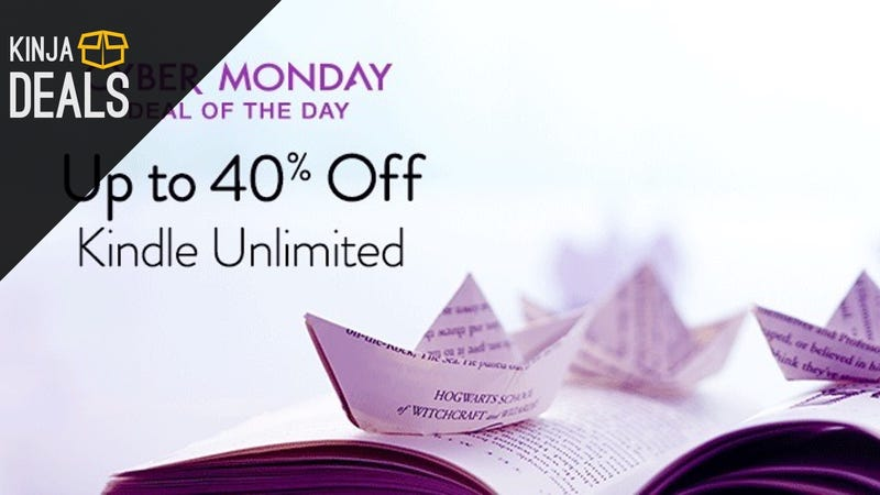 Give The Gift of Bottomless Books With Up To 40% off Kindle Unlimited