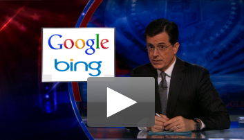 Watch Stephen Colbert Break Down the Google-Bing Slapfight