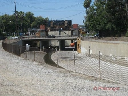 "Photos from The Dark Knight Rises L.A. set and one of the ""mouth to the Batcave"""
