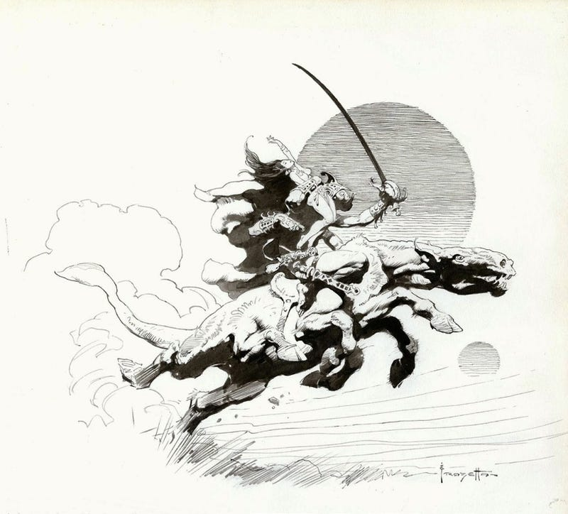 Frank Frazetta Like You've Never Seen Him Before!