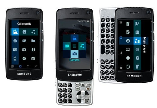 Samsung SGH-F520 Cellphone Slides Up and Down, Side to Side: Rubik's and iPhone Clone?